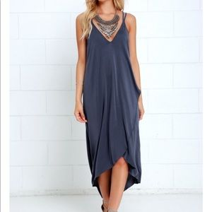NWT blue midi dress